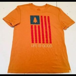 Mens Life is Good T Shirt Large